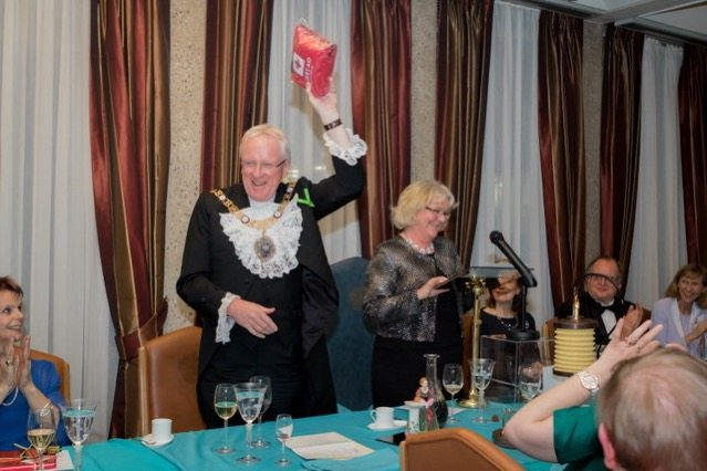 The Lord Mayor is presented with a gift from the Guild of Nurses – he is delighted to receive a First Aid Kit, which we hope he never has to use!