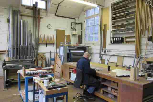 Mander Organs Metal Pipe Shop